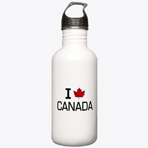 'I Love Canada' Stainless Water Bottle 1.0L