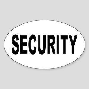 Security Sticker (Oval)