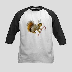 Reindeer Squirrel Kids Baseball Jersey