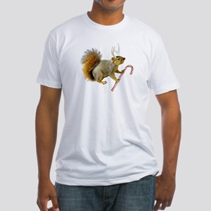 Reindeer Squirrel Fitted T-Shirt