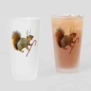 Reindeer Squirrel Drinking Glass