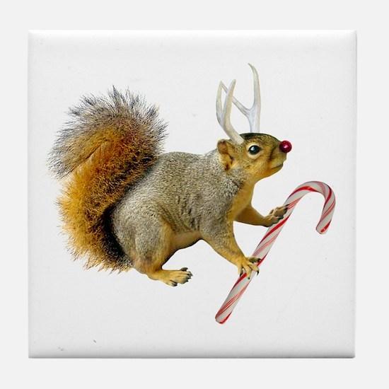 Reindeer Squirrel Tile Coaster