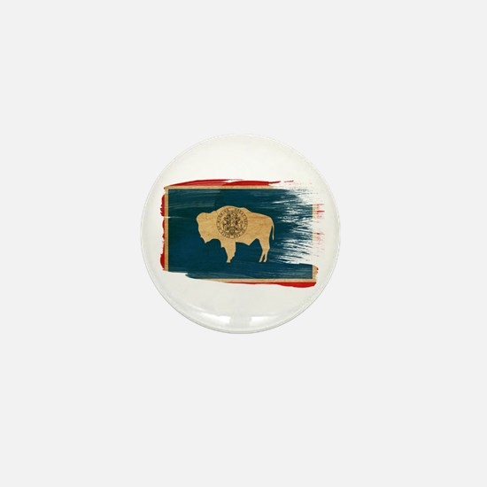 Wyoming Flag Mini Button (10 pack)