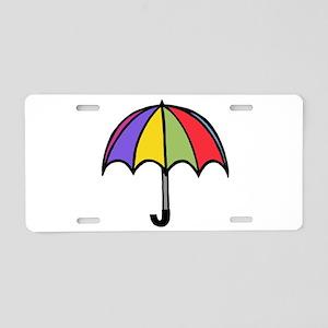'Umbrella' Aluminum License Plate