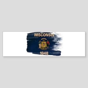 Wisconsin Flag Sticker (Bumper)