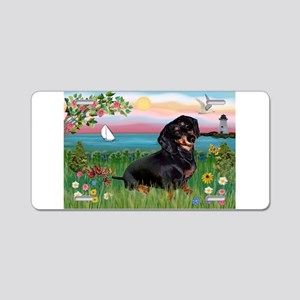 Lighthouse Doxie Aluminum License Plate