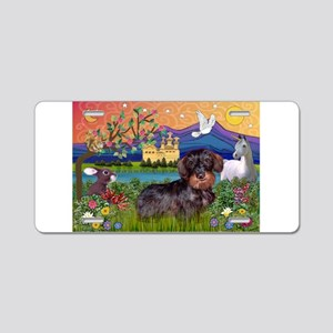 Fantasy Land / Dachshund (WH) Aluminum License Pla