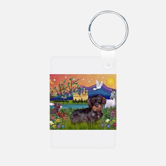 Fantasy Land / Dachshund (WH) Keychains