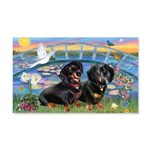 Sunrise Lilies / Doxie's Rule 20x12 Wall Decal