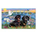 Sunrise Lilies / Doxie's Rule Sticker (Rectangle 1
