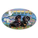 Sunrise Lilies / Doxie's Rule Sticker (Oval 50 pk)