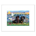 Sunrise Lilies / Doxie's Rule Small Poster