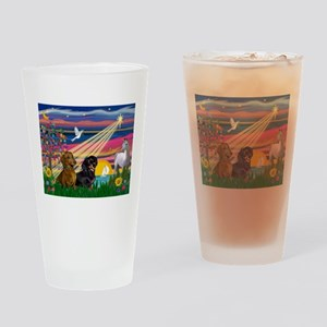 Magical Night / Two Dachshund Drinking Glass