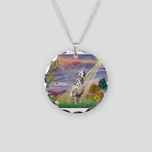 Mona Lisa (new) & Dalmatian Necklace Circle Charm