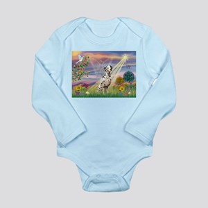 Mona Lisa (new) & Dalmatian Long Sleeve Infant Bod