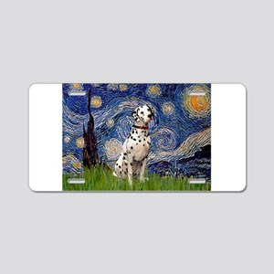 Starry Night & Dalmatian Aluminum License Plate