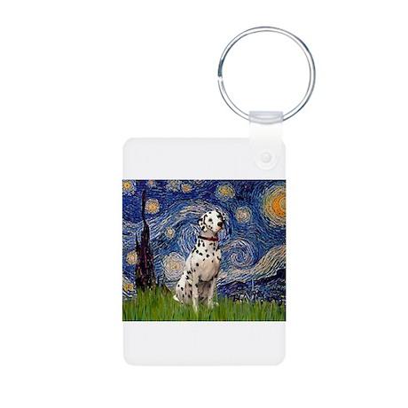 Starry Night & Dalmatian Aluminum Photo Keychain