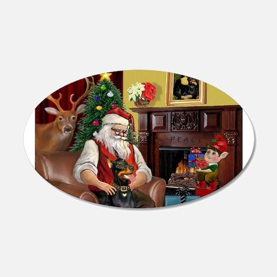 Santa's Dobie (Bz) Wall Decal