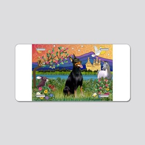 Doberman Fantasyland Aluminum License Plate