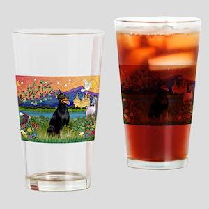 Doberman Fantasyland Drinking Glass