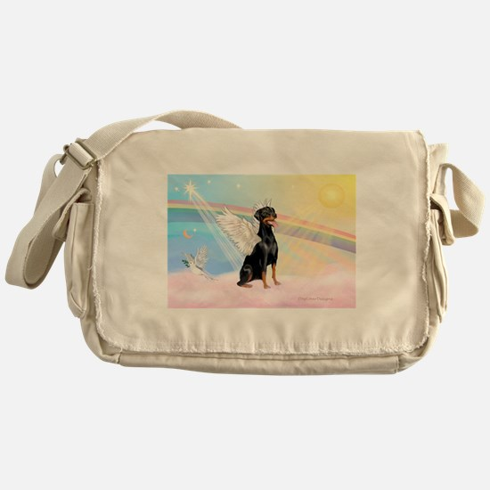 Doberman Angel (Nat) Messenger Bag