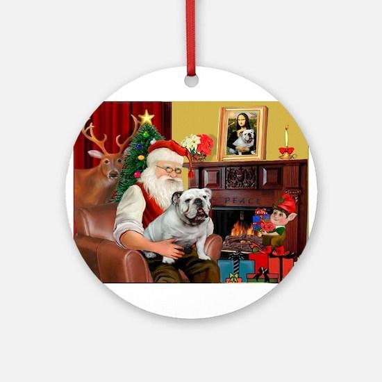 Santa's white EBD Ornament (Round)