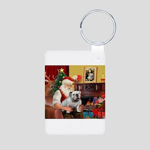 Santa's white EBD Aluminum Photo Keychain