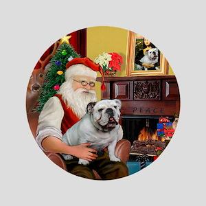 "Santa's white EBD 3.5"" Button"