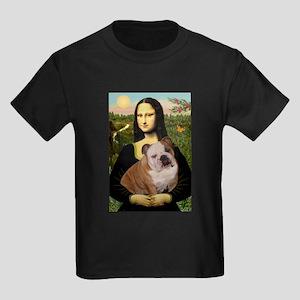Mona's English Bulldog Kids Dark T-Shirt
