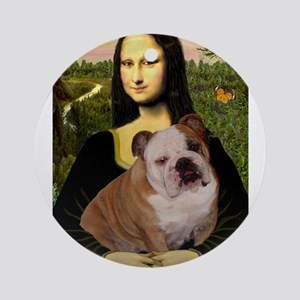 Mona's English Bulldog Ornament (Round)