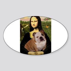 Mona's English Bulldog Sticker (Oval)