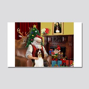 Santa & His Springer Car Magnet 20 x 12
