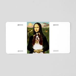 Mona Lisa & Her Springer Aluminum License Plate