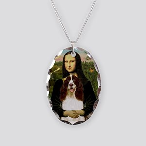 Mona Lisa & Her Springer Necklace Oval Charm