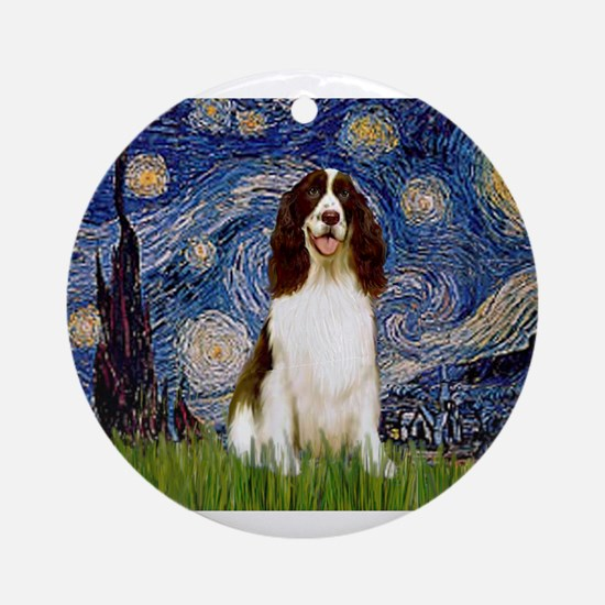 Starry Night & Springer Ornament (Round)