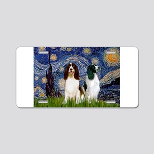 Starry Night & Springer Aluminum License Plate