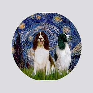 "Starry Night & Springer 3.5"" Button"