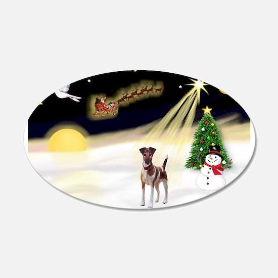 Night Flight/Fox Terrier 22x14 Oval Wall Peel