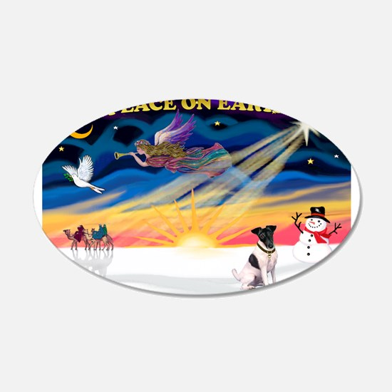XmasSunrise/Fox Ter #1 22x14 Oval Wall Peel