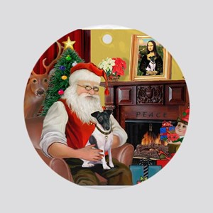 Santa's smooth Fox T Ornament (Round)
