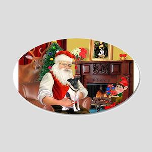 Santa's smooth Fox T 22x14 Oval Wall Peel