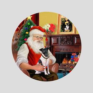 "Santa's smooth Fox T 3.5"" Button"