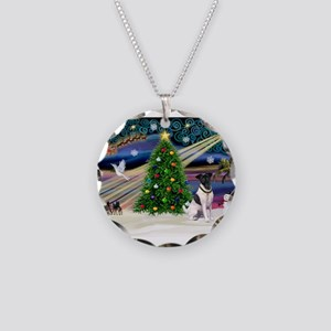 Xmas Magic & Fox T #1 Necklace Circle Charm
