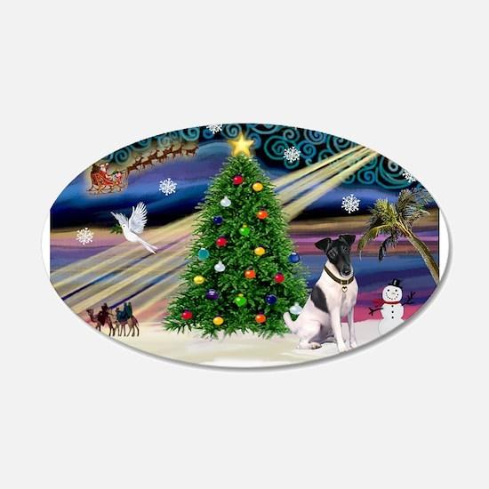 Xmas Magic & Fox T #1 22x14 Oval Wall Peel