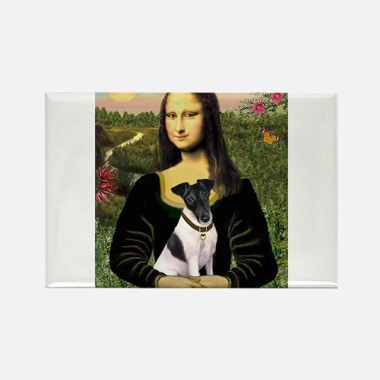 Mona & Fox Terrier (#1) Rectangle Magnet