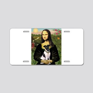 Mona and Fox Terrier Aluminum License Plate