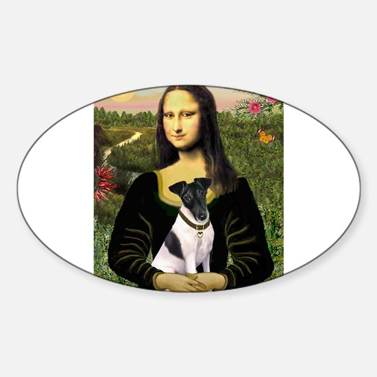 Mona and Fox Terrier Sticker (Oval)