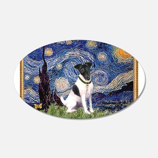 Starry Night Fox Terrier (#1) 22x14 Oval Wall Peel