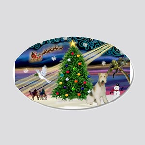 Xmas Magic & Wire Fox T3 22x14 Oval Wall Peel