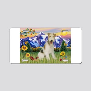 Wire Fox Terrier in Mt. Country Aluminum License P